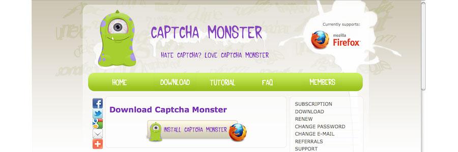 Captcha Monster
