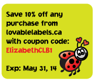 Lovable Labels - Love Bug Coupon Code ElizabethCLB1