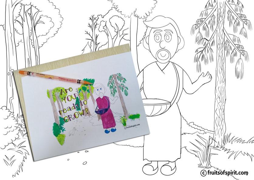 fruitofSpirit colouring page