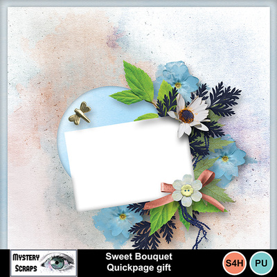 Sweet Bouquet Quickpage Gift by Mystery Scraps