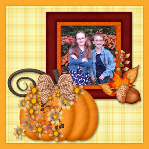 Autumn Blessings Quickpage Favourite Page